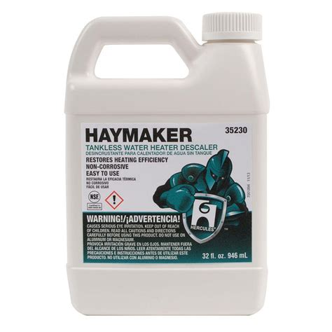 hercules haymaker tankless water heater descaler shop