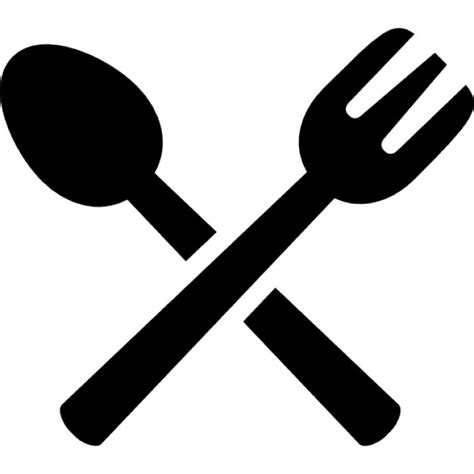 spoon and fork spoon and fork crossed icons free