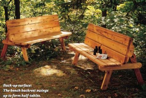 picnic table plans convert  benches woodwork city