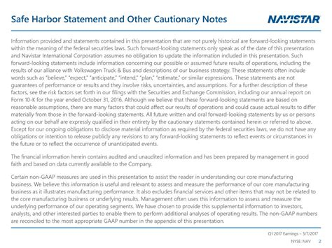 navistar international corporation   results earnings call  navistar