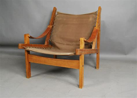 teak sling chair teak and canvas sling chair 31d127 vintage modern