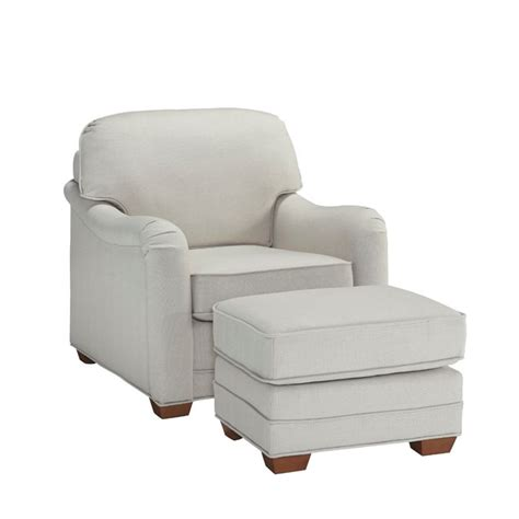 Accent Chair And Ottoman Accent Chair And Ottoman In White 5205 100