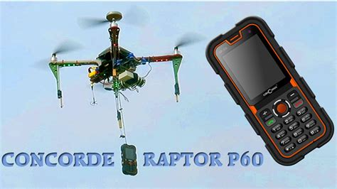 Tv Mobil Raptor mobile phone drop test with drone concorde raptor p60