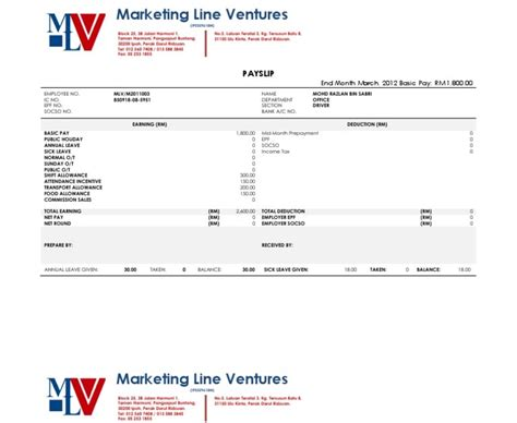 contoh slip gaji wiraswata contoh analisis