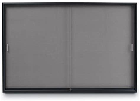 office bulletin board gray fabric