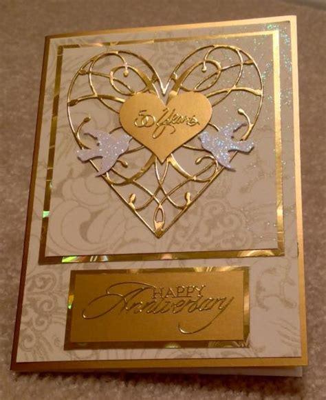 Handmade Golden Wedding Cards - golden anniversary card by cards4joy cards and paper