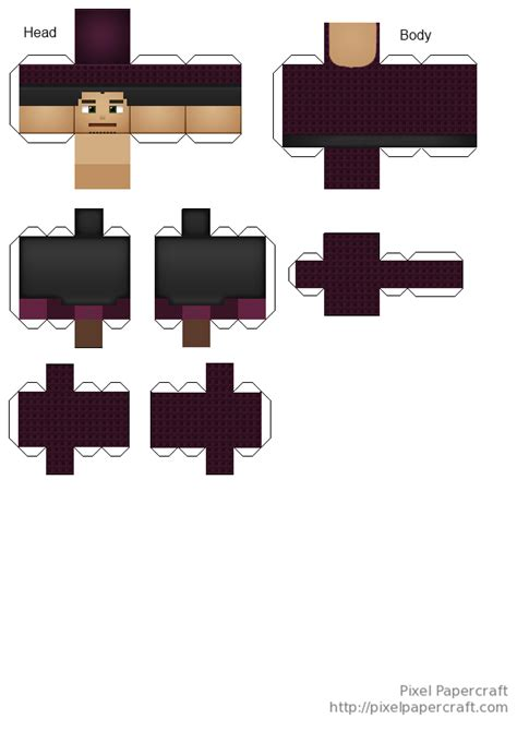 Pixelcraft Papercraft - papercraft villager priest soartex fanver