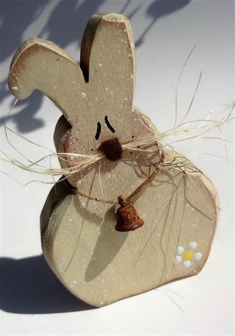 Easter Wooden Decorations by Wooden Easter Rabbit Decorations Primitive Wood Easter