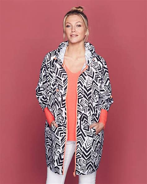 Cp Onb Cocoon Blouse geo print cocoon festival jacket j d williams
