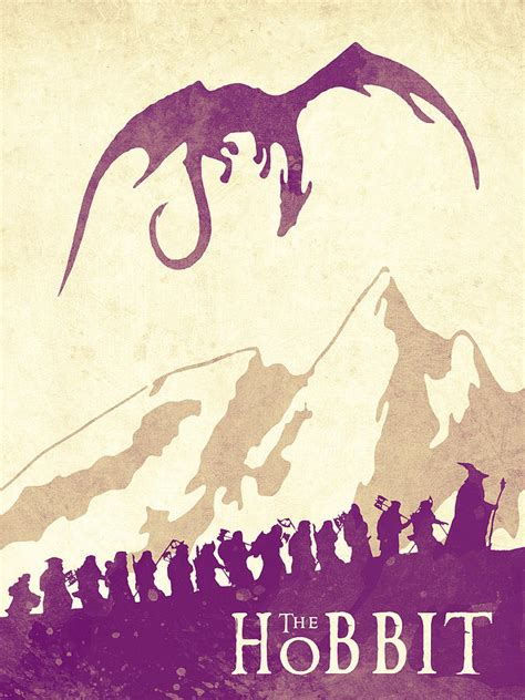 Handmade Posters - the hobbit lord of the rings poster watercolor poster