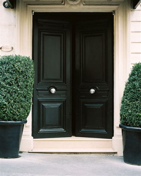 Black Exterior Door by Spaces The Black Front Door S E T T I N G Sail