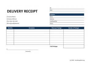 delivery invoice template delivery receipt template excel templates excel