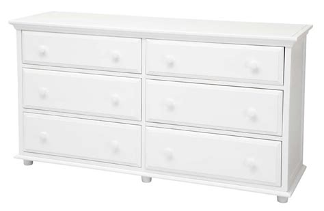 big 6 drawer dresser by maxtrix shown in white