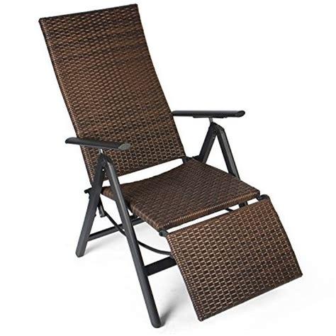 sedie sdraio da terrazzo vanage sedia a sdraio pieghevole in polirattan sedia da