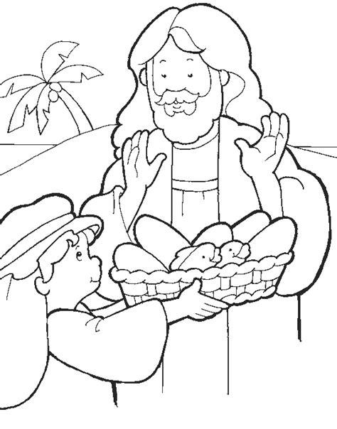 sekolah minggu ceria tuhan yesus memberi makan lima ribu orang dengan lima roti dan dua ikan