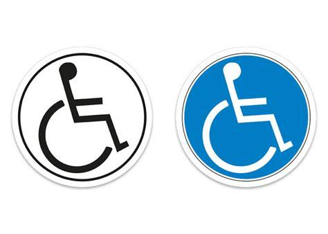 Auto Aufkleber Rollstuhlfahrer by Aufkleber 10cm Hinweis Behinderte Rollstuhlfahrer