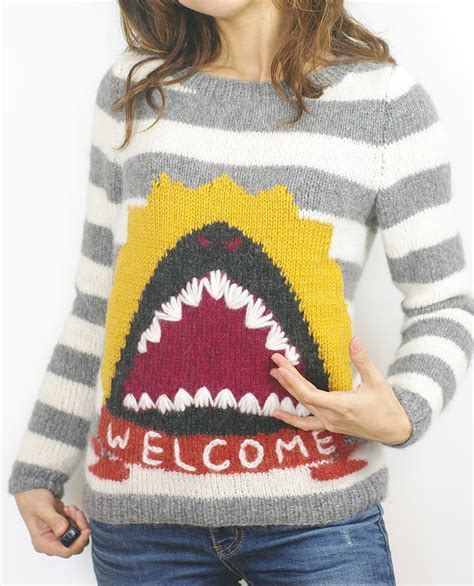 Sweater Shark shark knitting patterns in the loop knitting