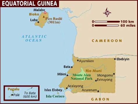 guinea ecuatorial map map of equatorial guinea