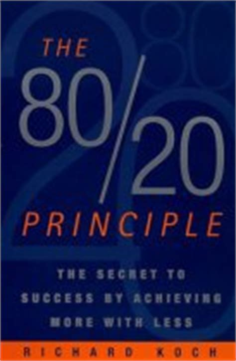 The Personal Mba Book Review by The 80 20 Principle Richard Koch The Personal Mba