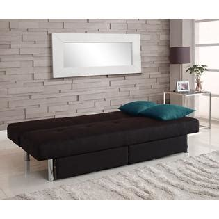 sola futon dorel sola convertible futon with storage black
