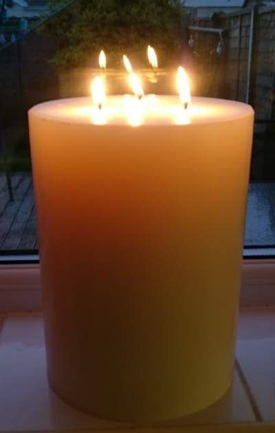 Big Candles Large 6 Inch Wide By 10 Inches Multi Wick