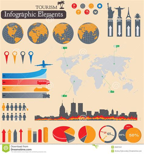 Elements Of My Vacation by Infographics Tourism And Travel Stock Image Image 29237541