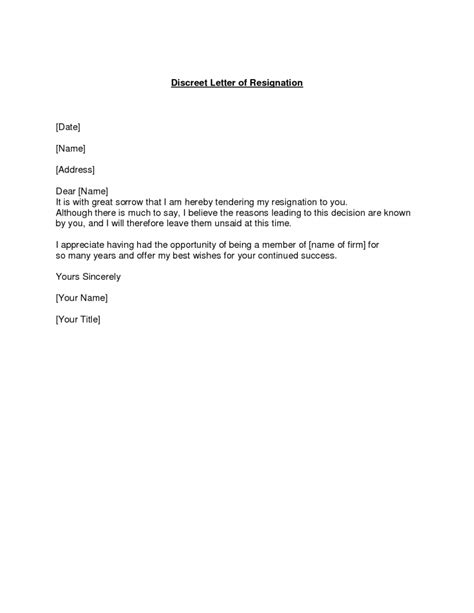 resignation letter format best letter of resignation