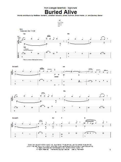 tutorial guitar buried alive buried alive sheet music direct