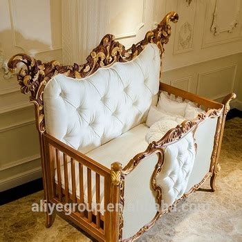 ak38 luxury royal wooden baby crib european style new