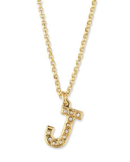 creel pav 233 initial pendant necklace in