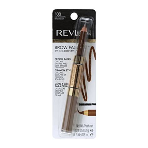 revlon brow fantasy light brown revlon brow fantasy pencil gel by colorstay light brown