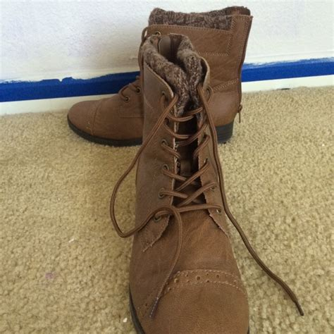 50 mudd shoes mudd ankle high leather brown boots