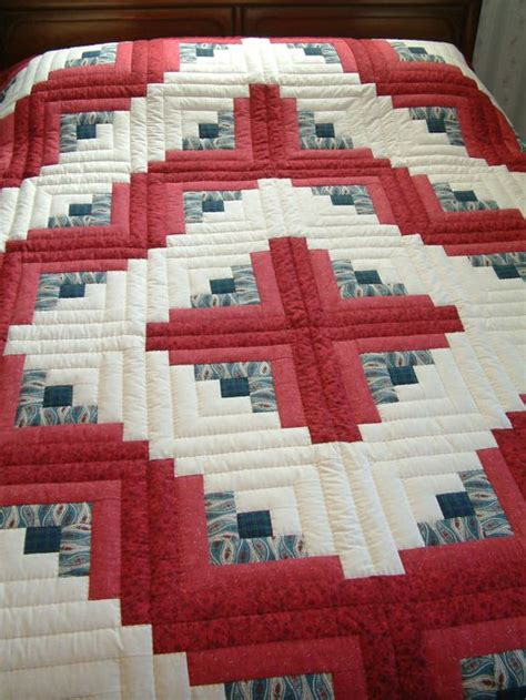 Cabin Raising Quilt by King Size And Blue Quilted Log Cabin Quilt Barn