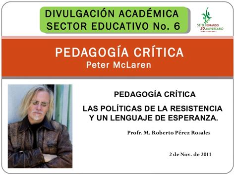 2 critica de la 9500393190 peter mc laren pedagogia critica