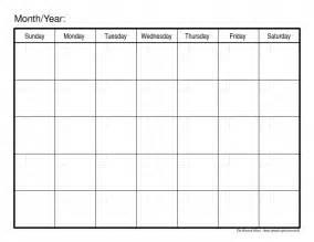 blank calendar fill calendar template