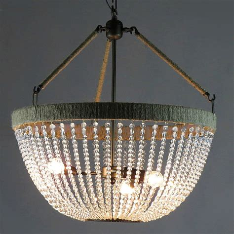 Farmhouse Chandelier Lighting Antique Country And Hemp And Iron Chandelier