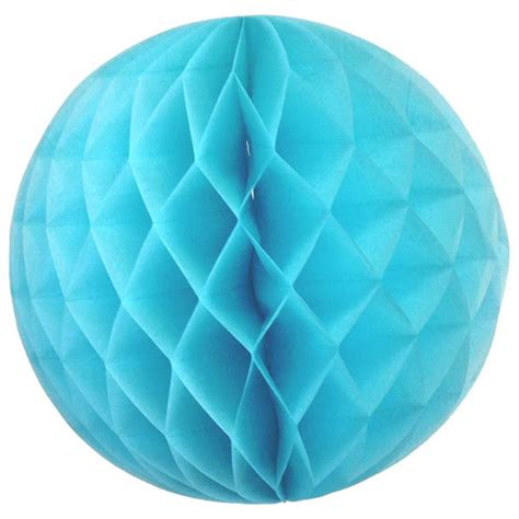 Paper Balls - tissue paper honeycomb 8inch baby blue