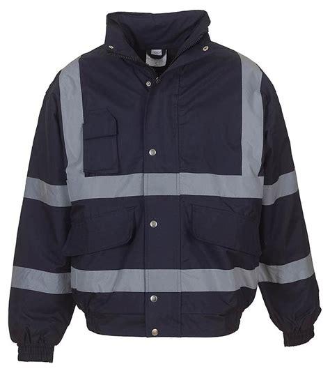 yoko hi vis bomber jacket navy bt hvp211