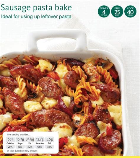 Todays Special Pasta With Sausage Basil And Mustard by Sausage Pasta Bake With Honey Mustard And Tomato For