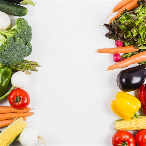 vegetables and vertical space in middle photo free download