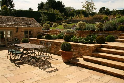 Vegetable Beds Terraced Garden Landscaping Near Moreton In Marsh Gloucs