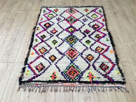 tapis rug east unique vintage moroccan rug tapis berbere ourika 180 215 127 cm a 058