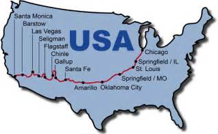 Route 66 Map Usa by Route 66 Tours