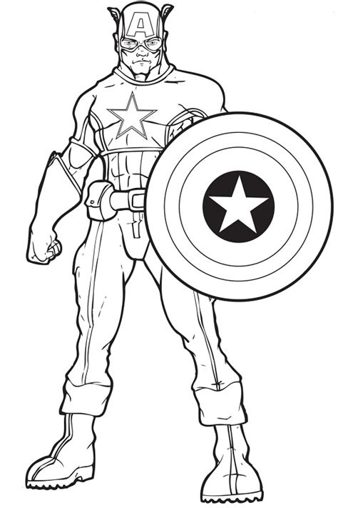 coloring pages for captain america free avengers captain america coloring pages