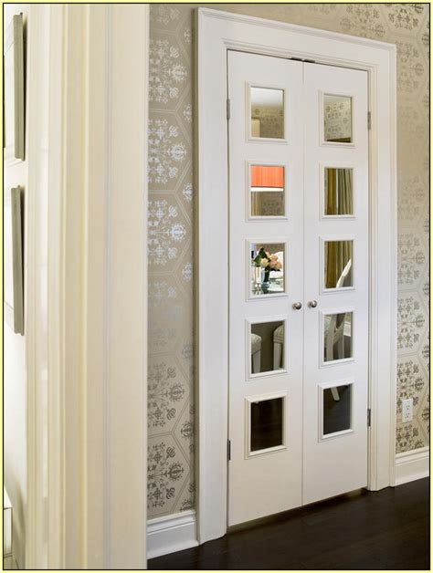 Doors Awesome Mirrored French Doors Mirrored Double Mirrored Interior Door