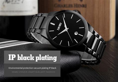 Skmei Jam Tangan Analog Pria 9140cs Black Berkualitas Skmei Jam Tangan Analog Pria 9140cs Black Blue
