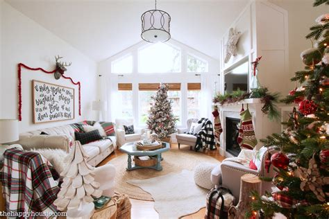 christmas curtains for living room classic christmas living room tour the happy housie