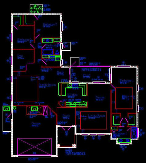 autocad plan for house cad building template us house plans house type 18 2886sqft