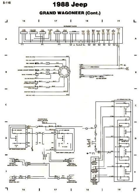 Схемы электрооборудования Jeep Grand Wagoneer 1988 187 Схемы