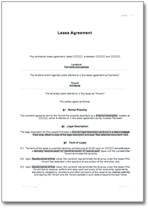 rental agreement for a room • de contract download